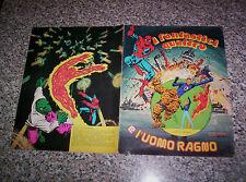 ALBUM I FANTASTICI QUATTRO E L'UOMO RAGNO ED.SOLARIS 1978 COMPLETO OTTIMO