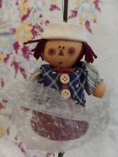 New Raggedy Andy Wind Chime Home Decor Flower pot Body Cloth Face