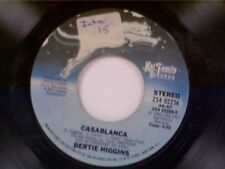 """BERTIE HIGGINS """"CASABLANCA / SHE'S GONE TO LIVE ON THE MOUNTAIN"""" 45"""