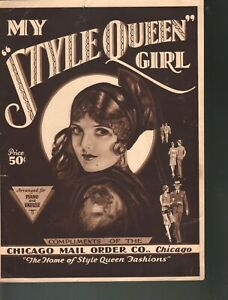 My Style Queen Girl 1929 Advertising Sheet Music