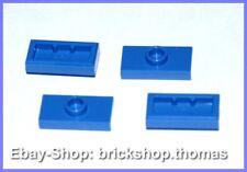LEGO 4 X Convertisseur Plaques Bleu 15573 Plate 1 x 2 jumper Blue-Neuf/New