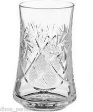 Set of 6 Belarus NEMAN Highball Glasses 24%LEAD CRYSTAL 100%HANDMADE