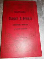 LIBRO:ELEMENTI DI BOTANICA-GIMNOSPERME CRITTOGAME-SCHMEIL COBAU-REMO SANDRON****