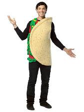 Taco Mexicano Gracioso comida occidental Adulto Sofisticado Vestido Disfraz Mens damas Unisex BN