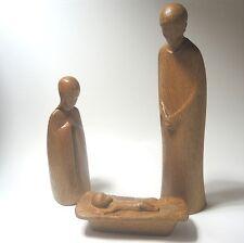 """Mangiatoia legno intaglio artisti progetto firmato """"WA"""" massiccio quercia circa 36,25,18 cm"""