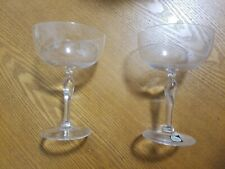 Vintage Cut Crystal Champagne Glass Maastricht Holland Crystal  A Set (2)