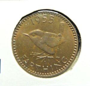 UK  Great Britain 1955  1/4 Farthing    👀