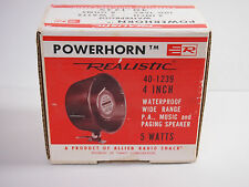 """4"""" Powerhorn Indoor / Outdoor 8 ohms Realistic 40-1239 5 WATTS"""