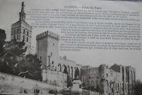 CPA Avignon Palais des Papes Vaucluse