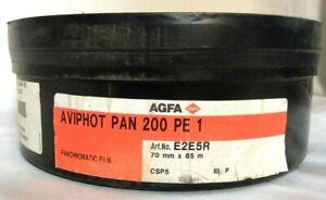 AGFA AVIPHOT PAN 200 PE 1 Panchromatic Aviation Film Roll,  70 mm x 85 Meters.