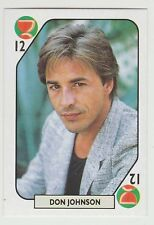 1980s Spanish Pop Star Trade Playing Card US Miami Vice Actor Don Johnson