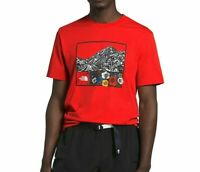 THE NORTH FACE Men's S/S T-Shirt HIMALAYAN SOURCE - Fiery Red - Medium - NWT