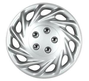 """QUALITY 14"""" GEARX WHEEL COVERS SILVER CONTIA SET OF 4"""
