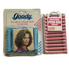 Vintage Goody Perm Rod Curlers Pink Blue Large 18 Count 1995 #430/4 New Sealed