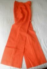 NWOT VINTAGE LATE 60'S EARLY 70'S  ORANGE HIGH RISE SLIGHTLY FLARES PANTS 10