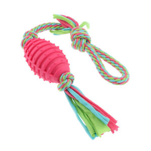 1 Pc Dog Tug of War Rope Ball Handled Interactive Toy for Aggressive Chewers