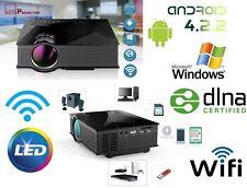 PROIETTORE LED WIFI Android LCD VIDEOPROIETTORE3D 1080P HD HDMI USB Home Cinema