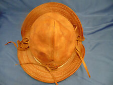 Child's vintage leather hat chin strap camping hiking style dress up style fun