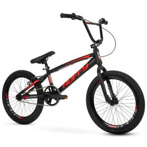 Boys 20 Inch BMX Bike Sleek Black Frame Rear Alloy V-Brake Double Wall Rims