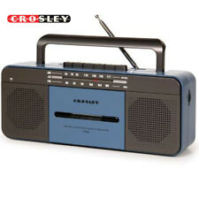 Crosley CT101A-BL Blue Old School Cassette Player/Radio w/ Built-In Bluetooth