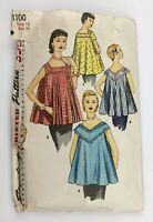 """1950's Vintage Sewing Pattern Maternity Tops For Ways Simplicity 1100 Bust 34"""""""