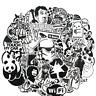 60 Retrosticker Stickerbomb Black White gaming Aufkleber Sticker Mix Decals r