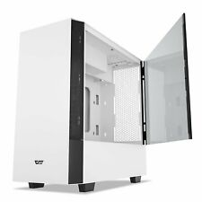 darkFlash V22 White Mid Tower Computer PC Case ATX Magnetic Tempered Glass Panel