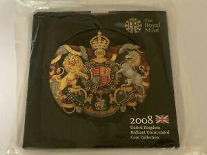 New Sealed 2008 Royal Mint BU UNC 9 Coin Year Set (4th Olympiad £2 Britannia 50p