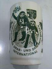 DDR Motorrad Motorsport LUDWIGSLUST Becher Keramik  Design 70er 80er antik