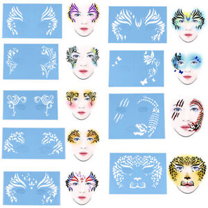Face Paint Stencil Reusable Template Tattoo Painting Drawing Mold Makeup Tool.BK