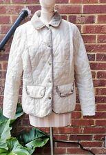 Vintage Barbour Quilted Dean Tweed Pearl Jacket - Size UK14