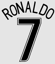 Ronaldo 7 2006-2007 Home CL Football Name set for Manchester United Shirt