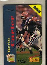 1995 Phonex Signature Rookies Kevin Carter Rookie Auto Autograph Card 76/100