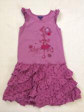 Naartjie Girls 9 Purple Island Girl Flamingo Tiered Ruffle Dress Sleeveless