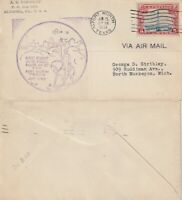 US 1931 FIRST FLIGHT FLOWN COVER AM 20 FORT WORTH TO NORTH MUSKEGON EXTENSION