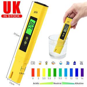 LCD Digital Electric PH Meter Tester Pen Hydroponics Water Test Kit Aquarium UK