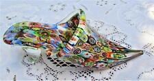 Vintage 1950s+  Murano Venetian Italian Art Glass Millefiori Shoe Slipper  A+
