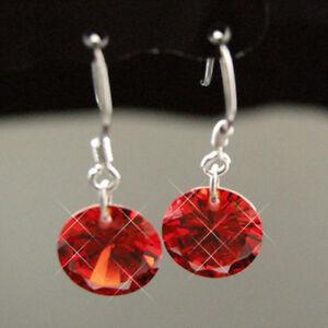 New Swarovski Orange Crystal Earrings