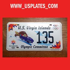 2002 OLYMPIC GAMES UTAH US VIRGIN ISLANDS LICENSE PLATE SPORT TAG LOW NUMBER 135