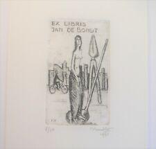 Exlibris Bookplate Erotik von Theo Humblet 22,5 x 13,5 cm (X4021)