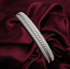 Women's Fashion 925 Sterling Silver Plated Bangle Bracelet Wholesale gift
