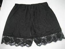 Vintage Black Nylon Short Pettipants, Lace Hem - RN 109872 - Style 64961 Size XL