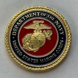 New USMC Marine Corp Challenge Coin Golf Oversized Golf Ball Marker