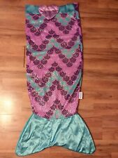 """Snuggie Tail Purple Blue And Sparkley With A Hearr Embellishment. 3'3"""" Long..."""