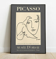 Picasso Art Print, Pablo Picasso Wall Art, Exhibition Poster, Home Decor