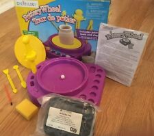 Creatology Kids Battery Powered Pottery Wheel art set with MindWare air dry clay