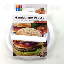 Hamburgerpresse Burgerpresse Grill Hamburger-Presse Patty-Maker aus Kunststoff