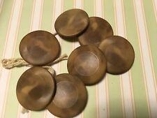 """Vintage Unique Texture Lot  Of 7 Pcs Brown Buttons 7/8"""""""