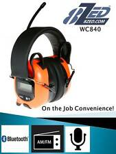 Safety Earmuffs AM/FM Radio Bluetooth Headphones iPhone 4,5,6 Galaxy ABA840