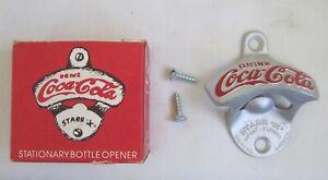 VINTAGE COCA COLA  BOTTLE OPENER STARR X BROWN NIB NEW IN BOX POP SODA WALL COKE